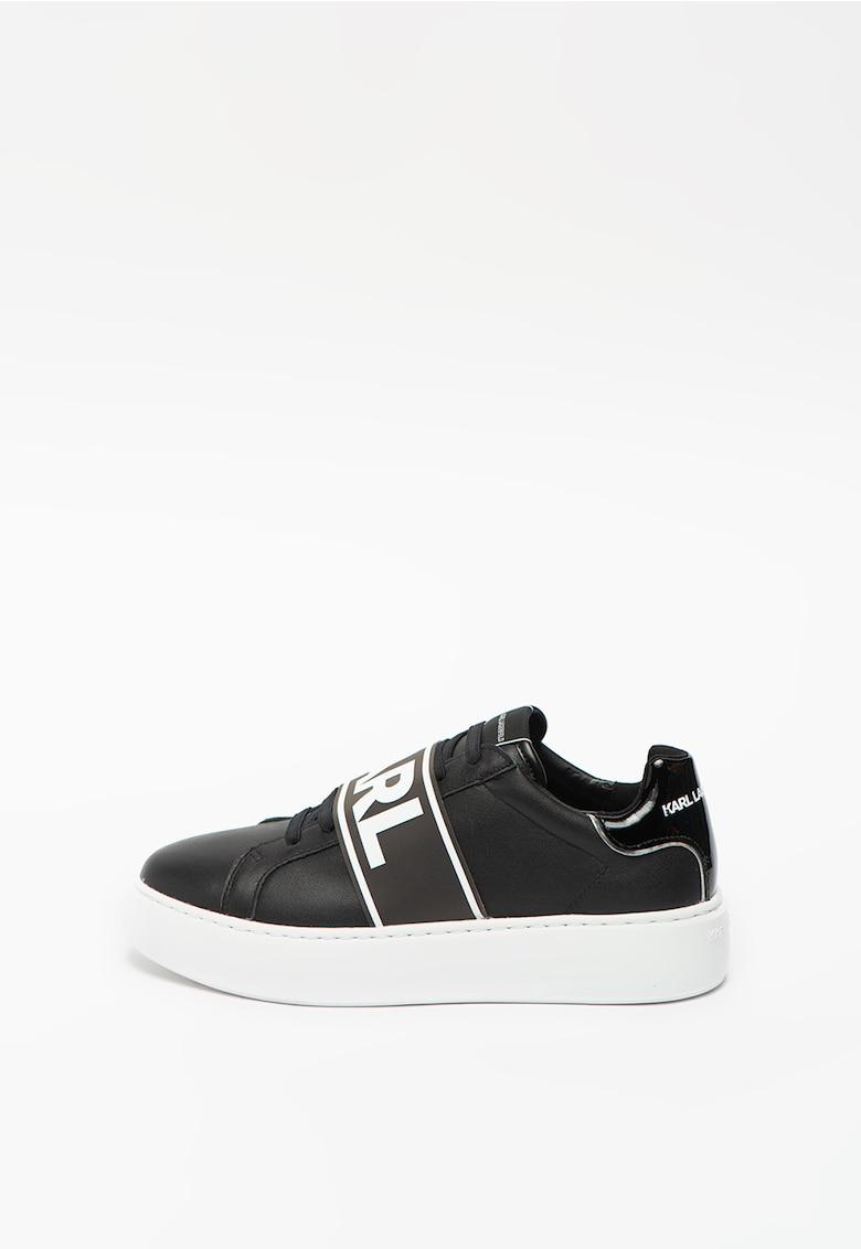Pantofi sport din piele ecologica si piele cu platforma Maxi Kup
