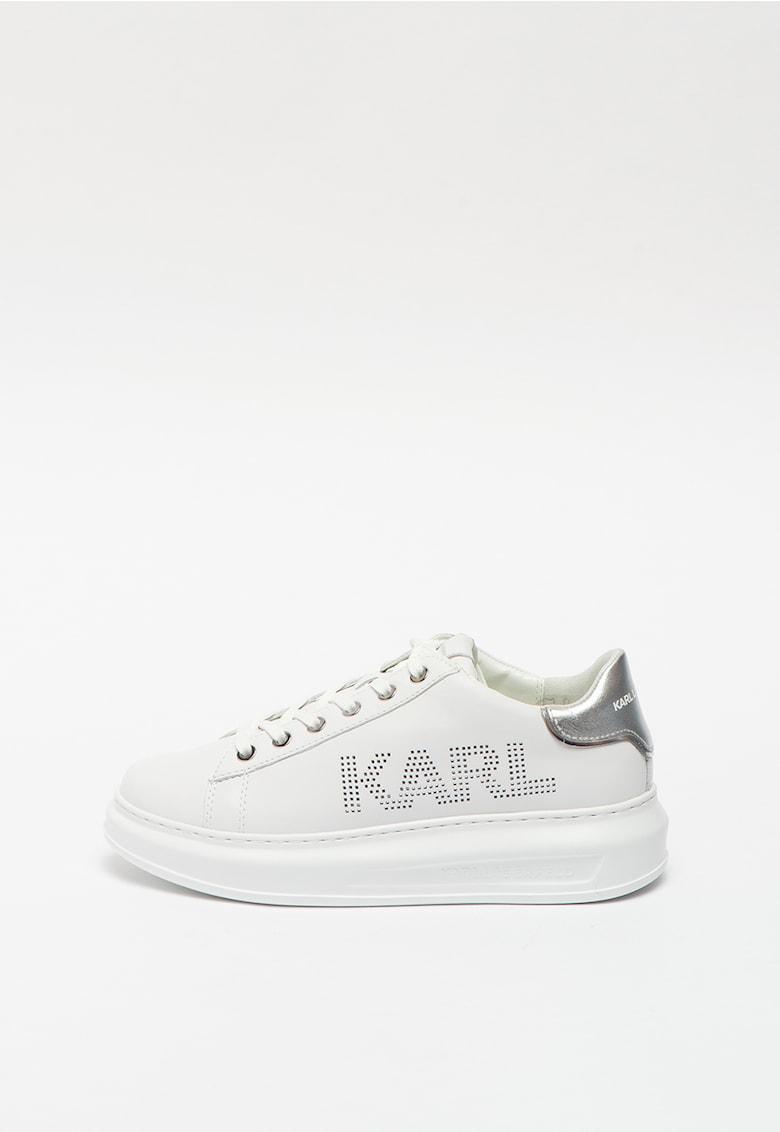 Pantofi sport din piele cu detalii cu aspect metalizat Punkt