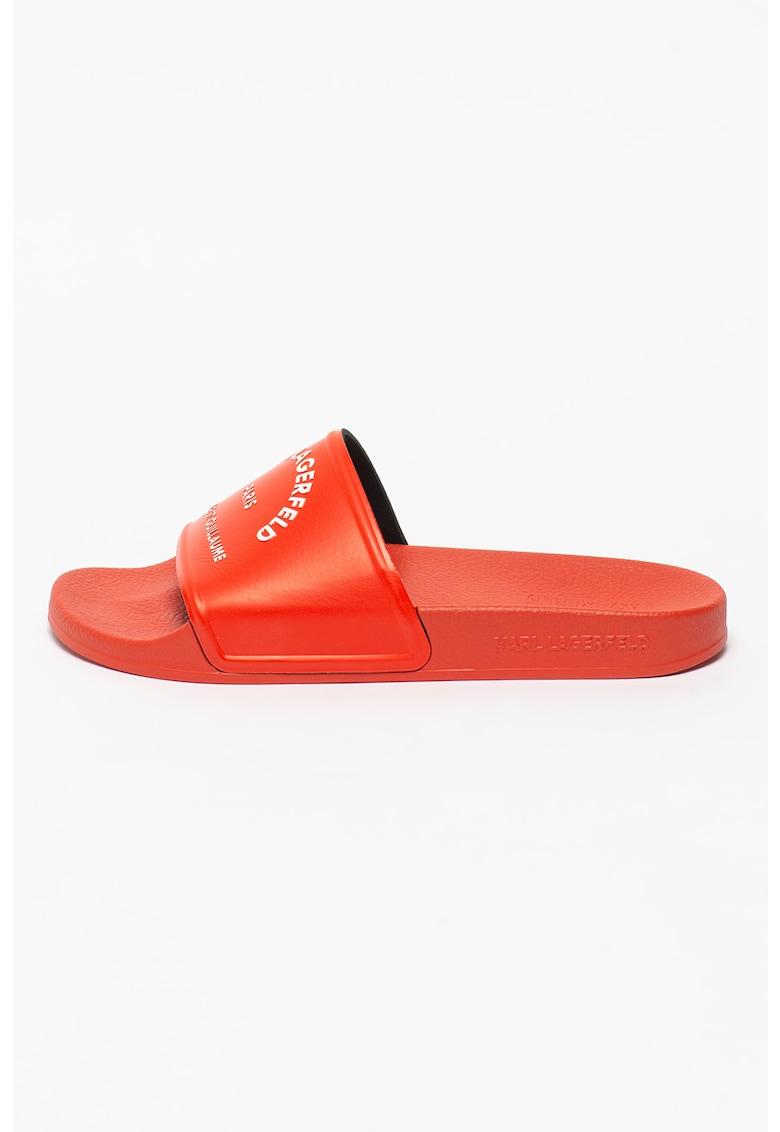 Papuci cu imprimeu logo Kondo imagine fashiondays.ro 2021