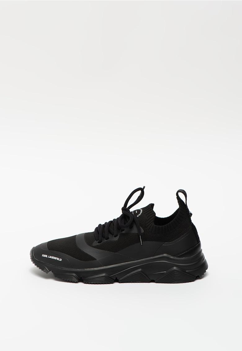 Pantofi sport slip-on din plasa tricotata cu detalii peliculizate Verge