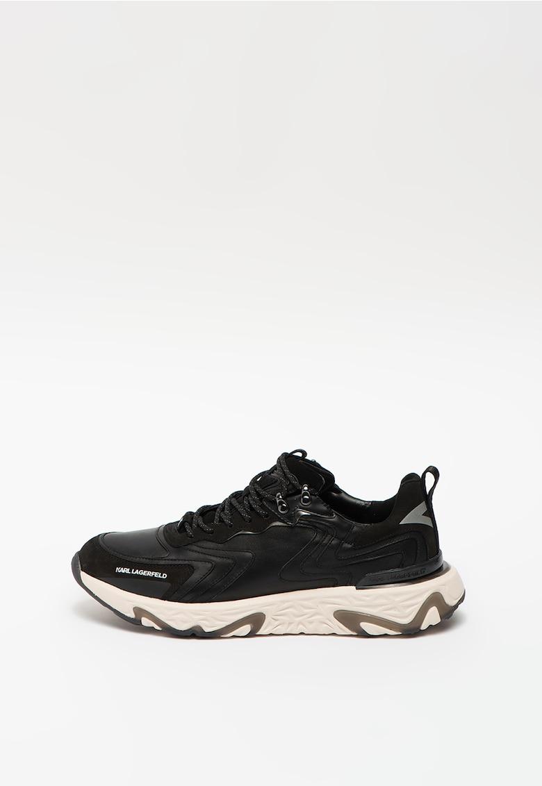 Pantofi sport din piele cu garnituri din piele intoarsa Blaze