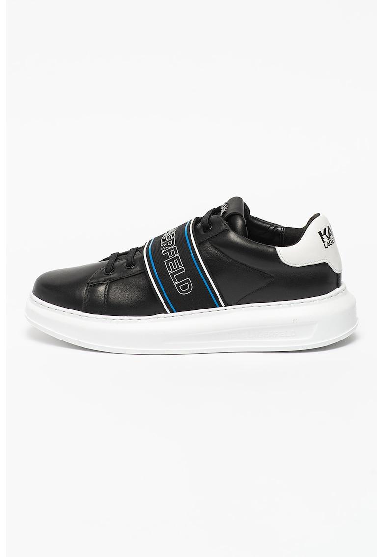 Pantofi sport de piele cu banda logo elastica Kapri