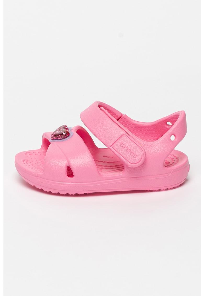 Sandale cauciucate cu velcro Charm imagine fashiondays.ro Crocs