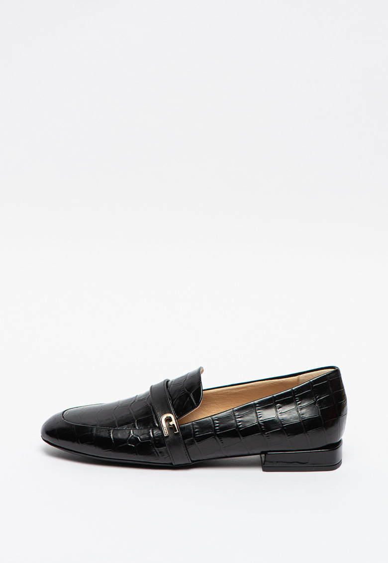 Furla Pantofi loafer de piele cu aspect de piele de reptila 1927