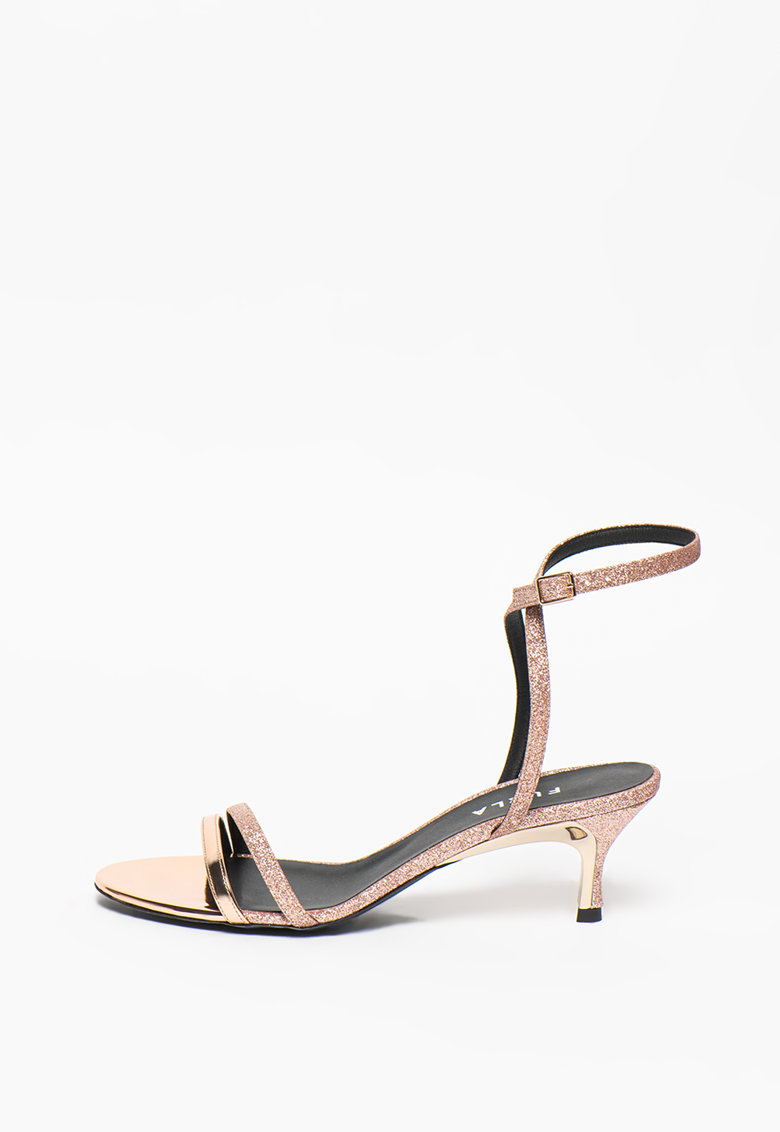 Sandale stralucitoare cu toc inalt Code imagine