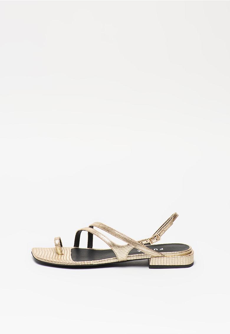 Sandale de piele cu aspect metalizat Armonia imagine