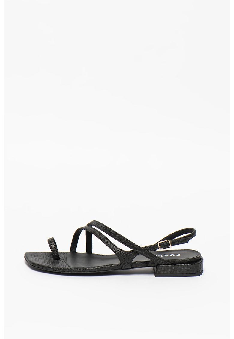 Sandale din piele cu bareta petrecuta Armonia imagine