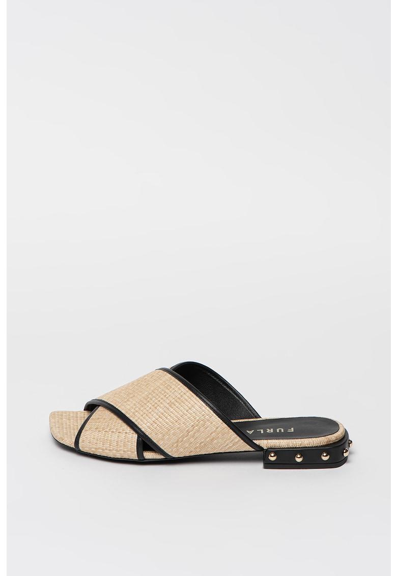 Papuci din material textil cu nituri Cross