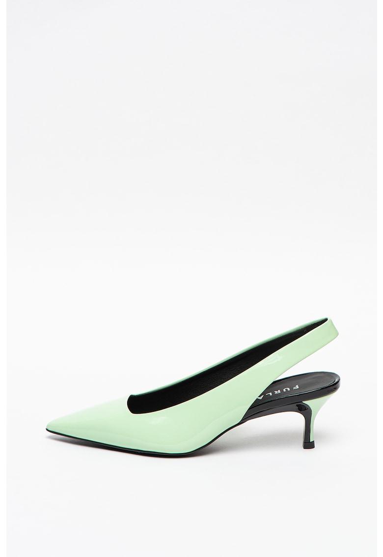 Pantofi slingback de piele cu toc inalt imagine