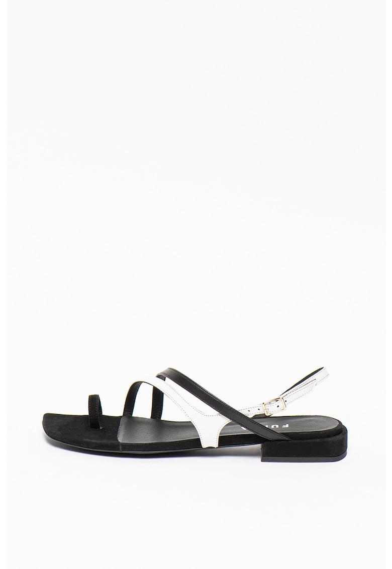 Sandale din piele cu toc masiv Armonia imagine