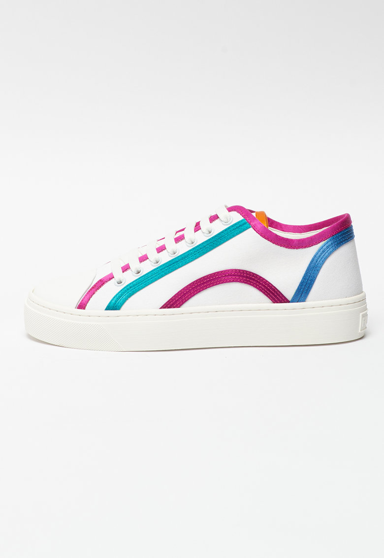 Pantofi sport de panza cu model colorblock Binding