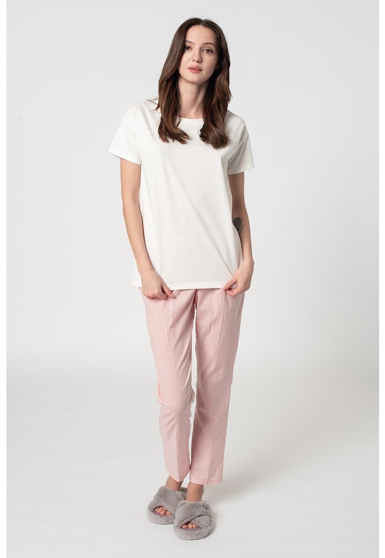 Pijama din bumbac organic Candita imagine fashiondays.ro 2021