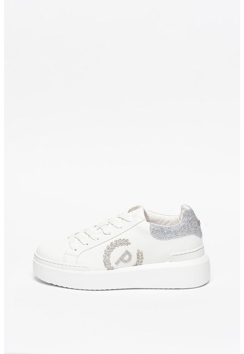 Pantofi sport de piele ecologica cu insertii stralucitoare Carrie