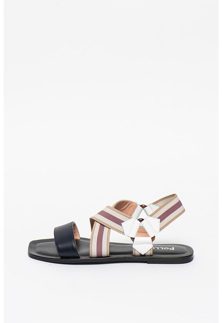 Sandale de piele cu barete elastice