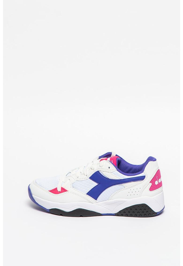 Pantofi sport de piele ecologica cu material textil Flex Run