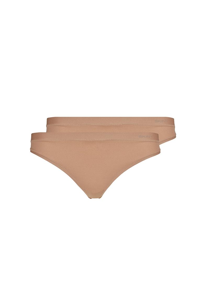 Set de chiloti tanga Pure Nudity - 2 perechi imagine promotie