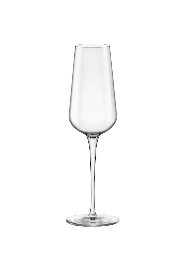 Set 6 pahare cu picior Inalto Tre Sensi - sticla cristalina imagine fashiondays.ro 2021