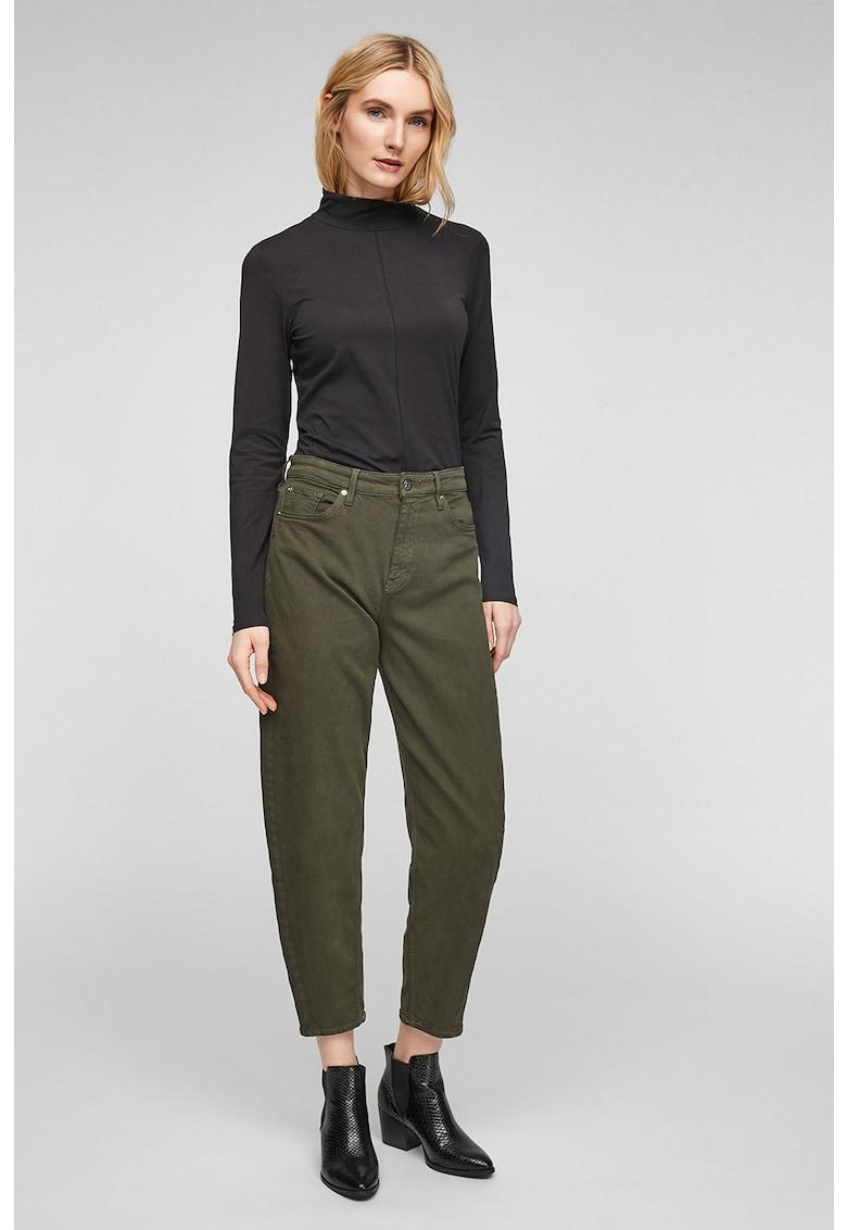 Bluza din amestec de bumbac - cu guler inalt imagine fashiondays.ro