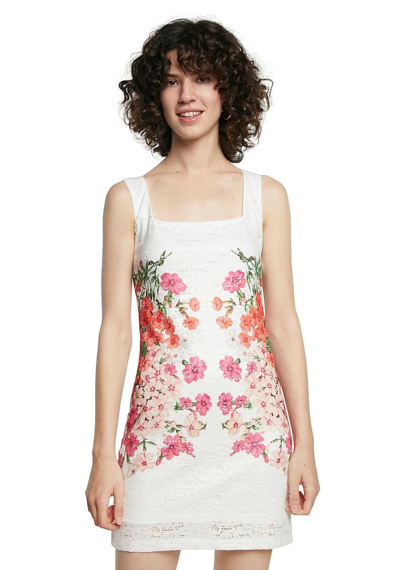 Rochie mini din dantela cu imprimeu floral