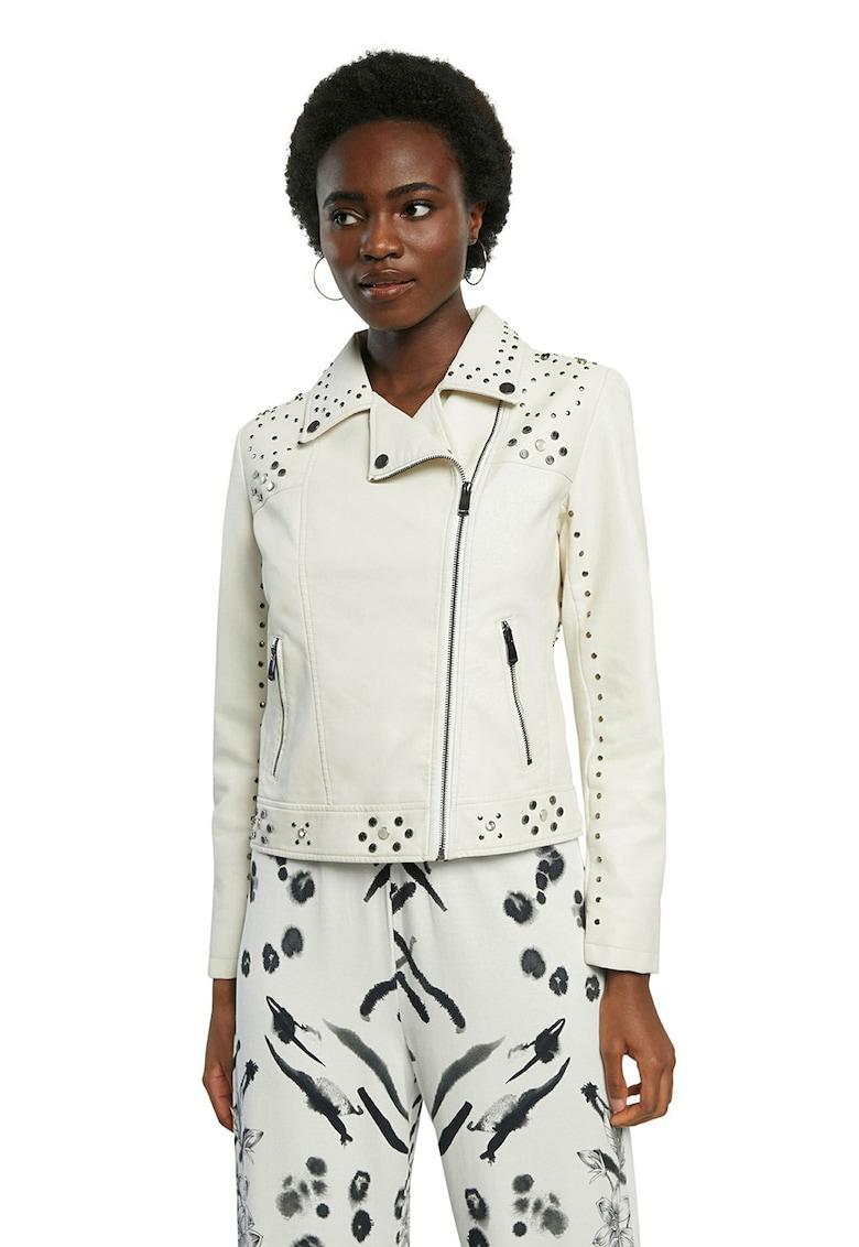 Jacheta din piele ecologica cu tinte