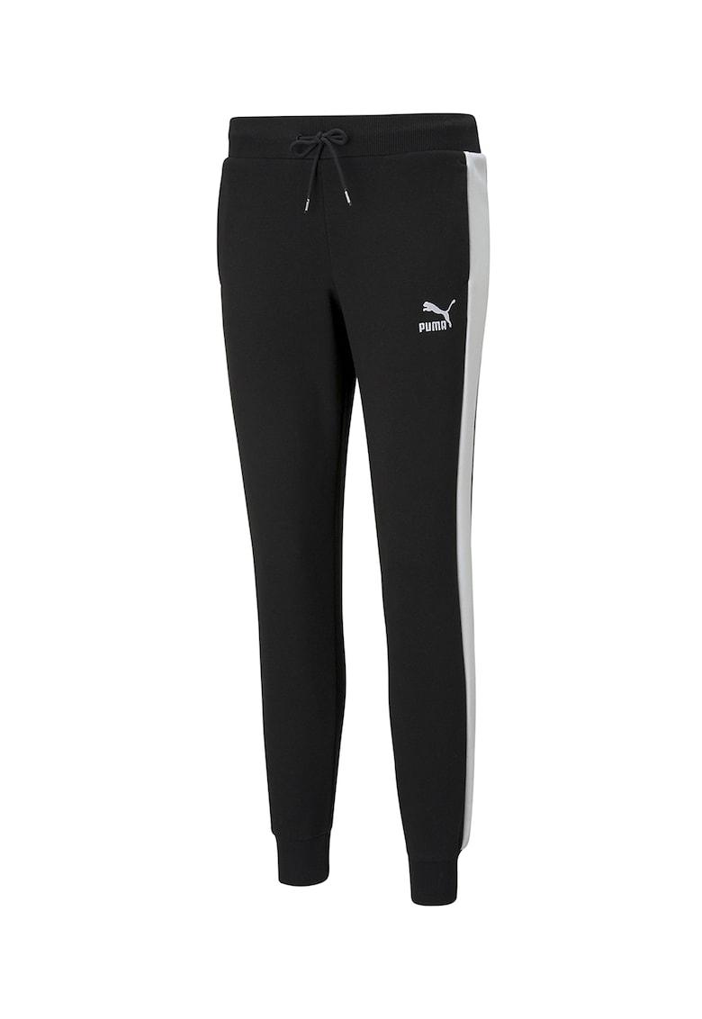 Pantaloni sport cu benzi laterale contrastante Iconic poza fashiondays