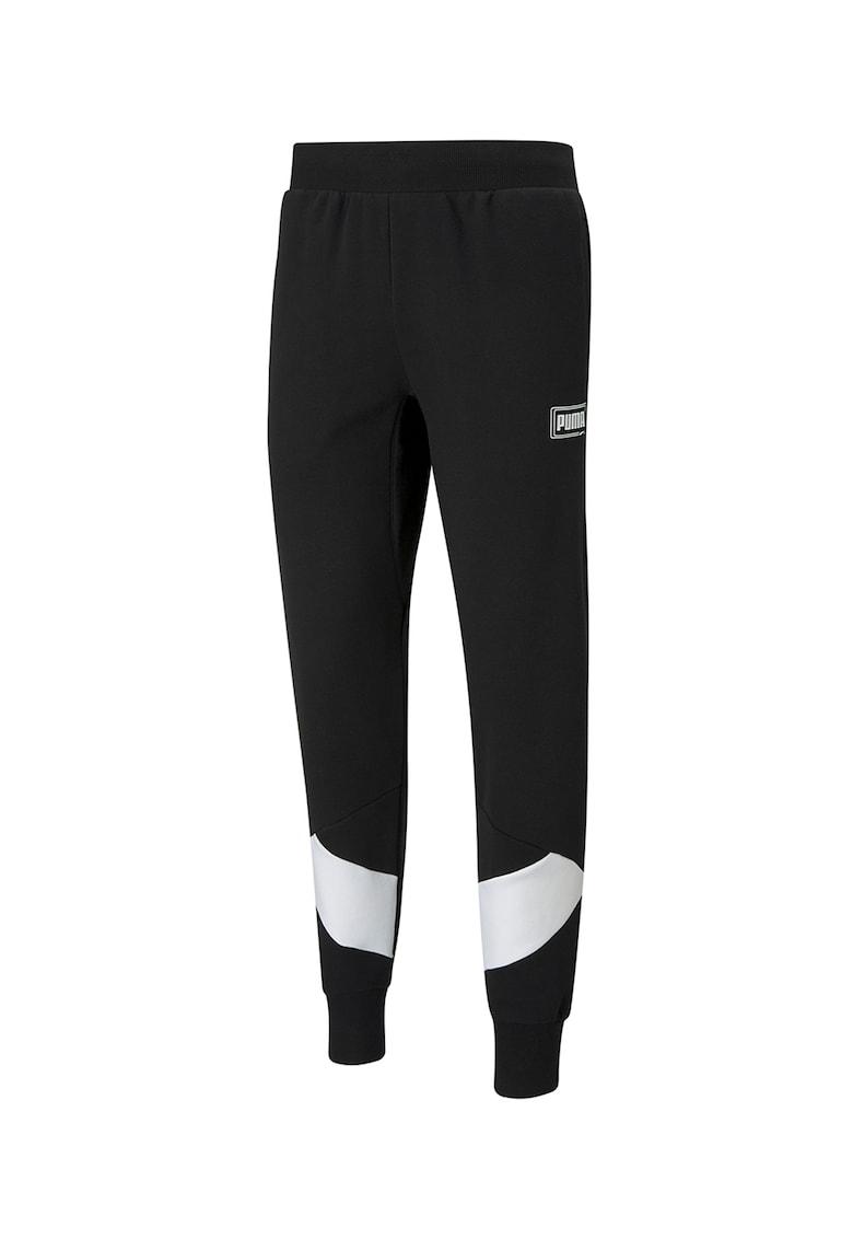 Pantaloni sport conici cu garnituri contrastante Rebel