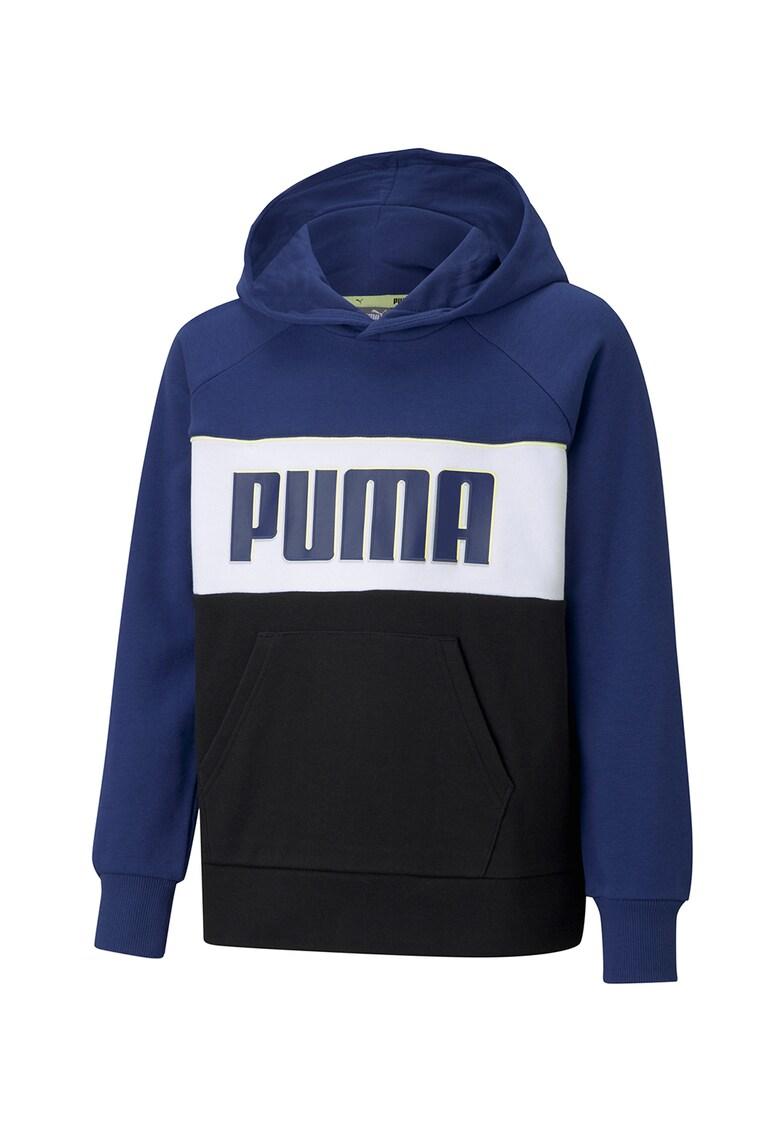 Hanorac cu model colorblock si logo Alpha de la Puma