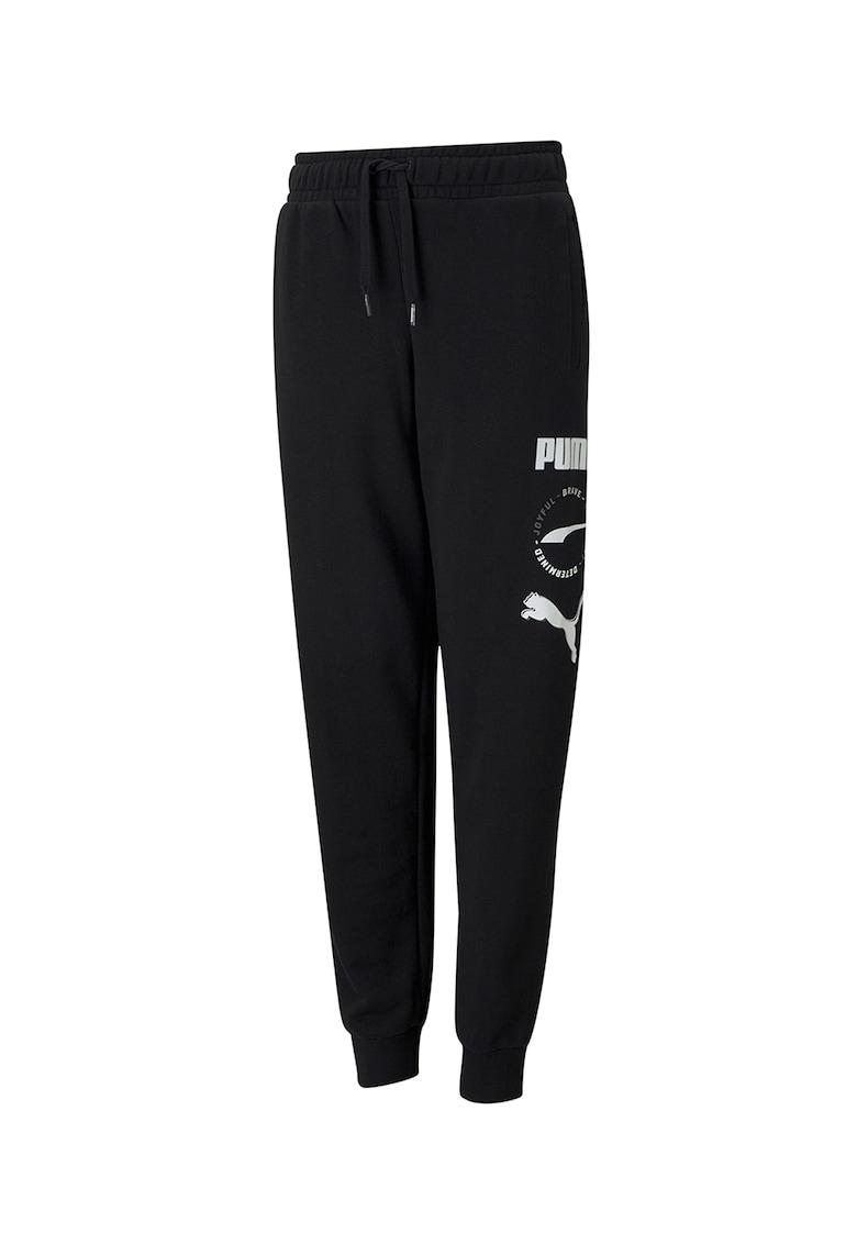 Pantaloni sport cu snur in talie Alpha de la Puma