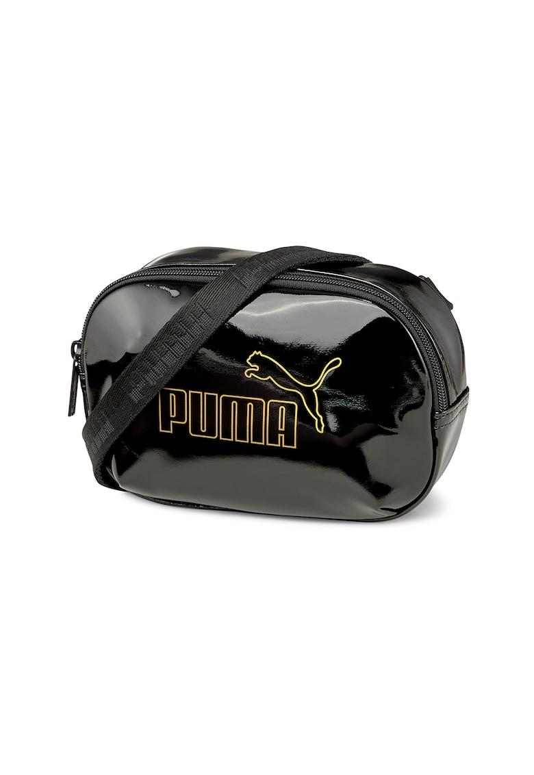 Geanta crossbody cu aspect lacuit Core Up X Puma fashiondays.ro