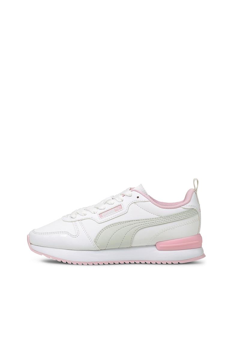 Puma Pantofi sport de piele ecologica alb R78