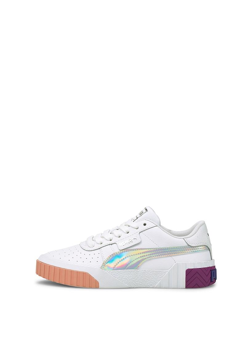 Pantofi sport din piele si piele ecologica cu detalii perforate Cali Bubbles imagine