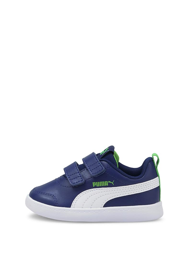 Puma Pantofi sport de piele ecologica cu velcro Courtflex v2