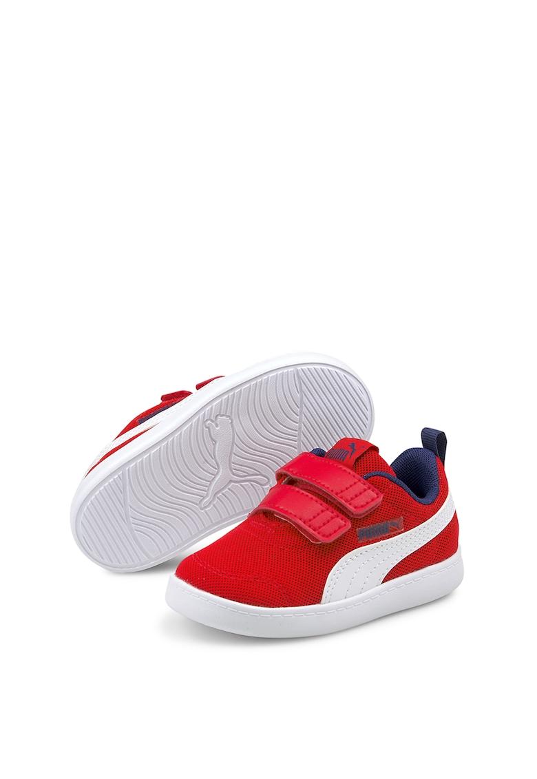 Puma Pantofi sport de plasa tricotata cu velcro Courtflex v2