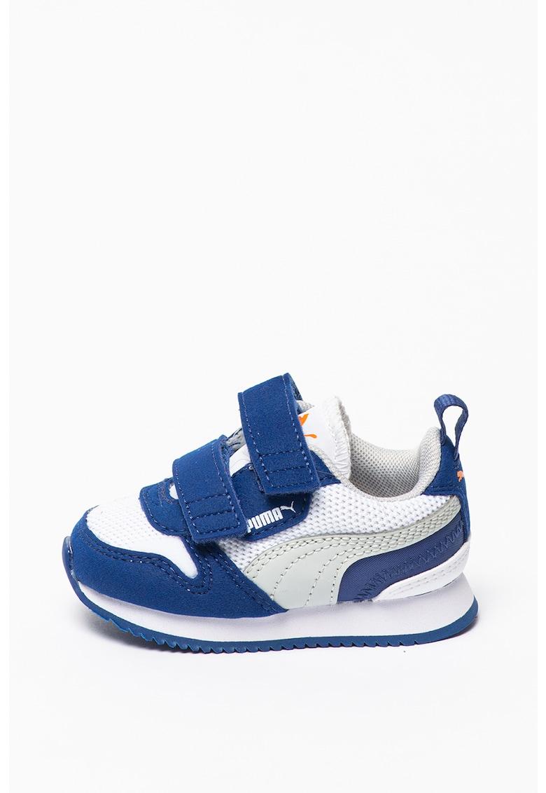 Pantofi sport de piele intoarsa ecologica si material textil cu velcro imagine