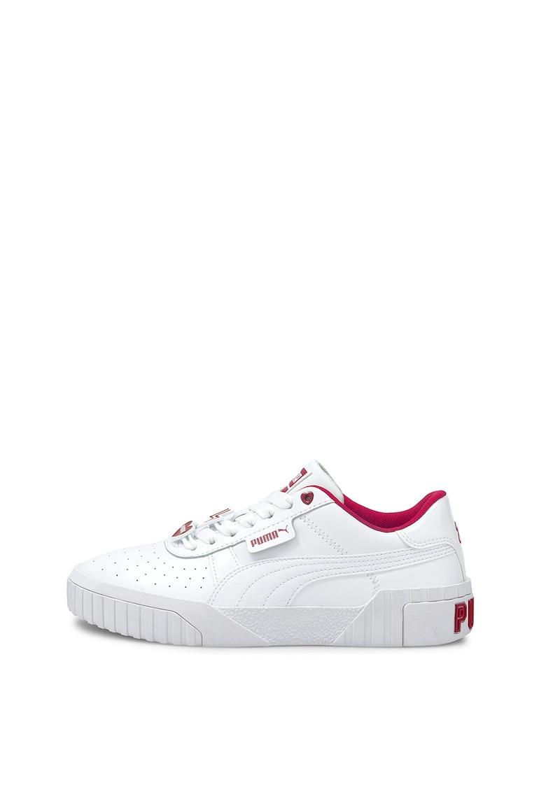 Pantofi sport de piele cu garnituri de piele ecologica Cali Galentine's imagine