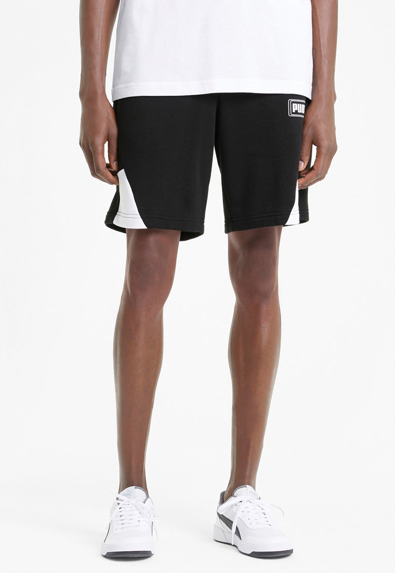 Pantaloni scurti sport cu buzunare laterale Rebel imagine fashiondays.ro