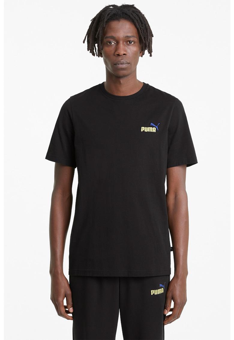 Tricou cu logo brodat Ess Bărbați imagine