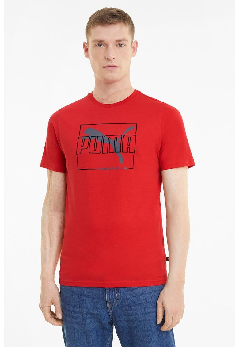 Tricou de bumbac cu imprimeu Bărbați imagine