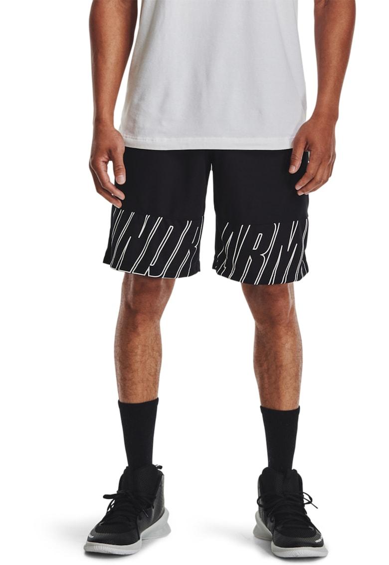 Pantaloni scurti cu imprimeu logo - pentru baschet Baseline Speed Under Armour fashiondays.ro