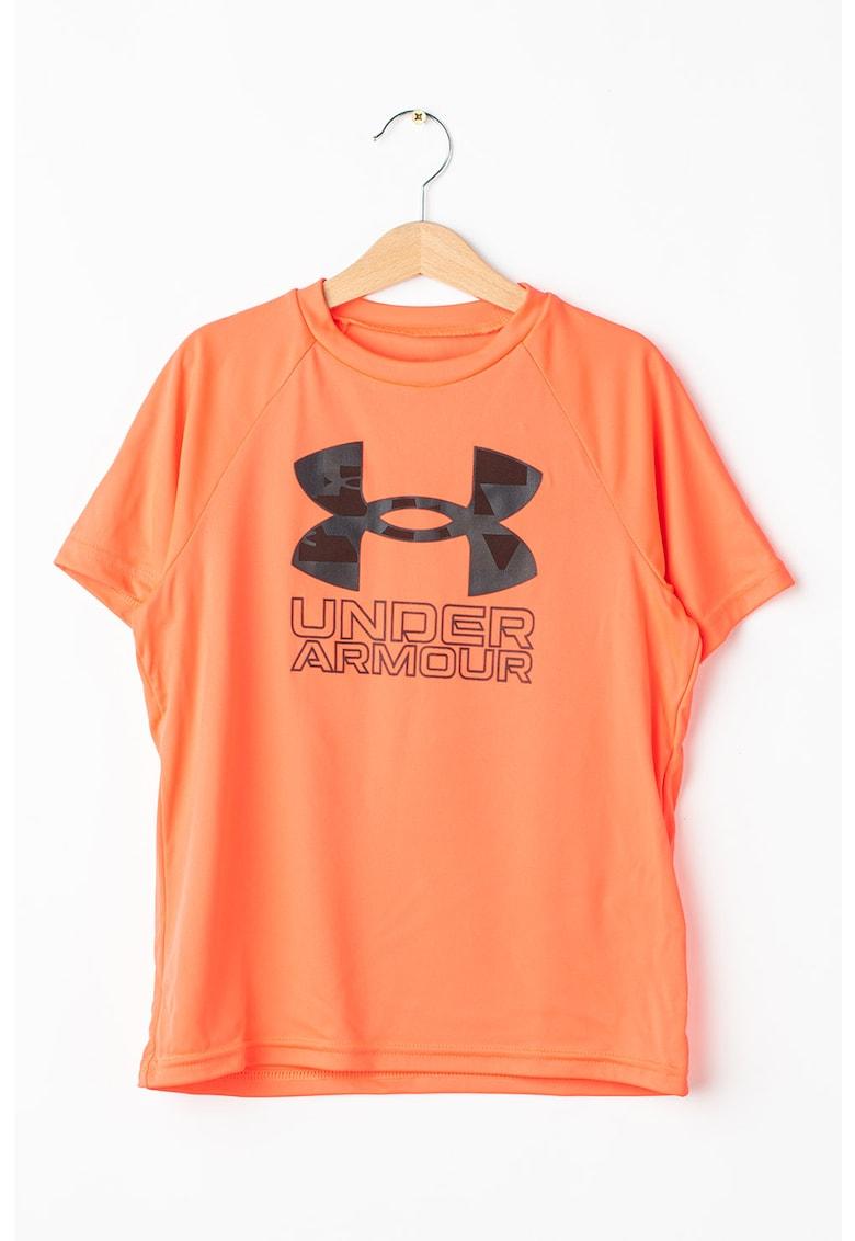 Tricou cu imprimeu logo pentru fitness Tech Hybrid imagine fashiondays.ro 2021