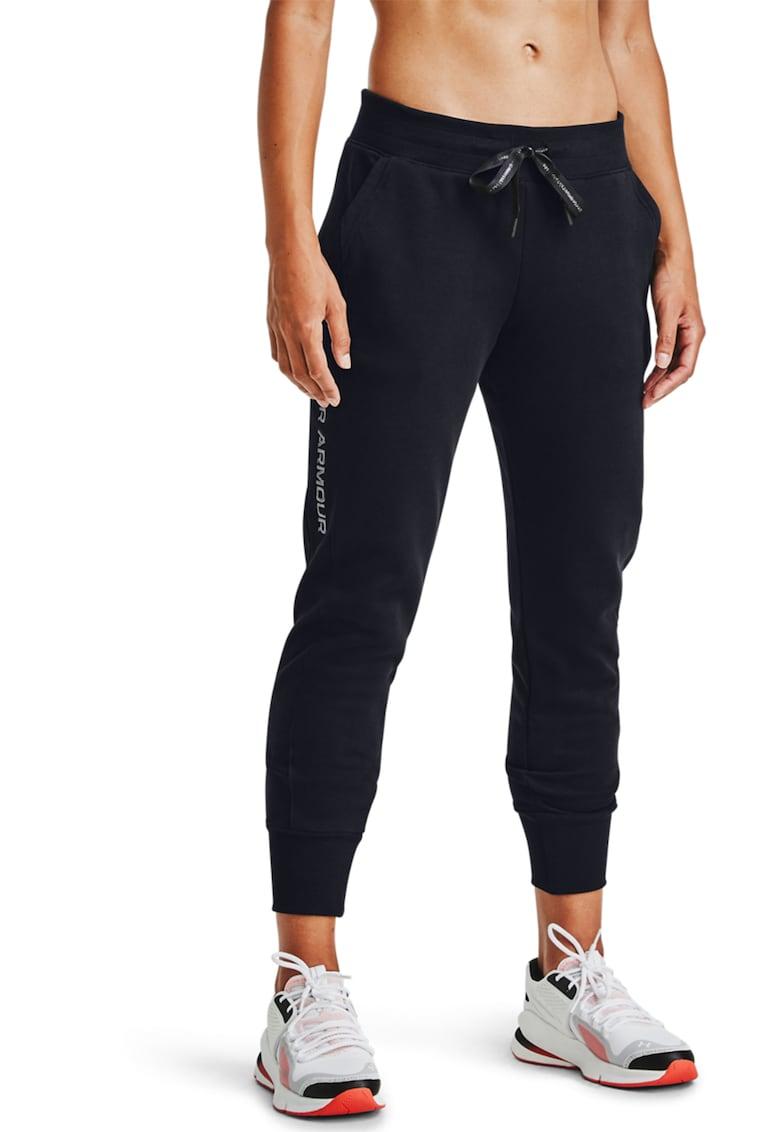 Pantaloni sport cu logo brodat - pentru antrenament Rival de la Under Armour