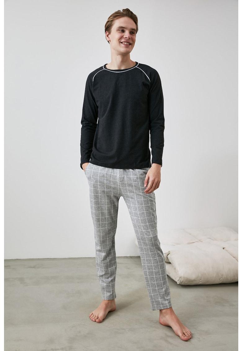 Pijama cu maneci raglan