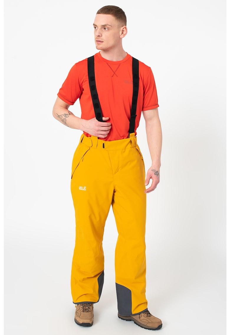 Pantaloni cu bretele pentru schi Exolight