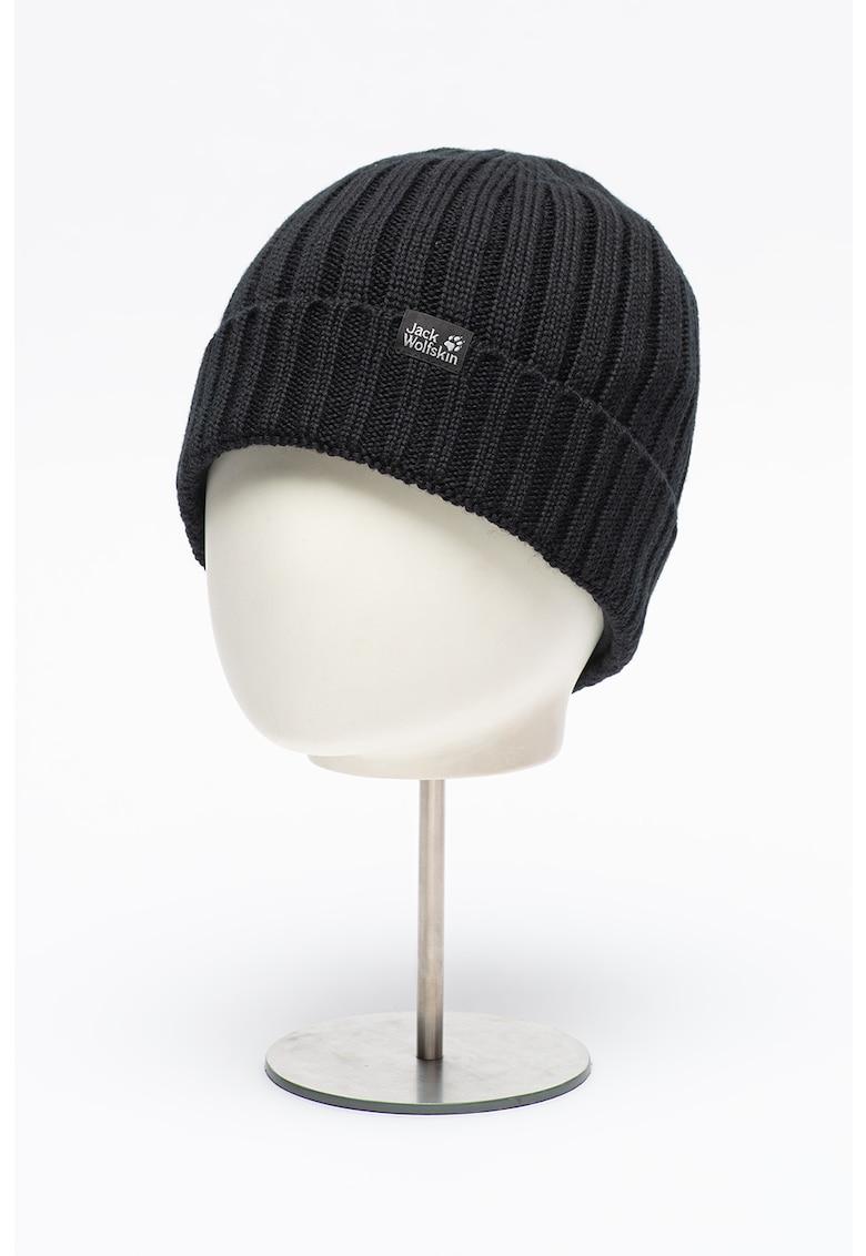 Caciula elastica si striata din amestec de lana Stormlock poza fashiondays