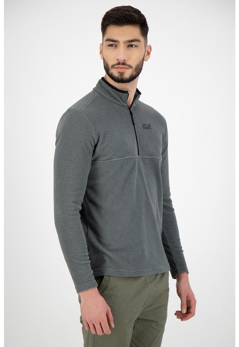 Bluza sport din fleece cu fenta cu fermoar imagine