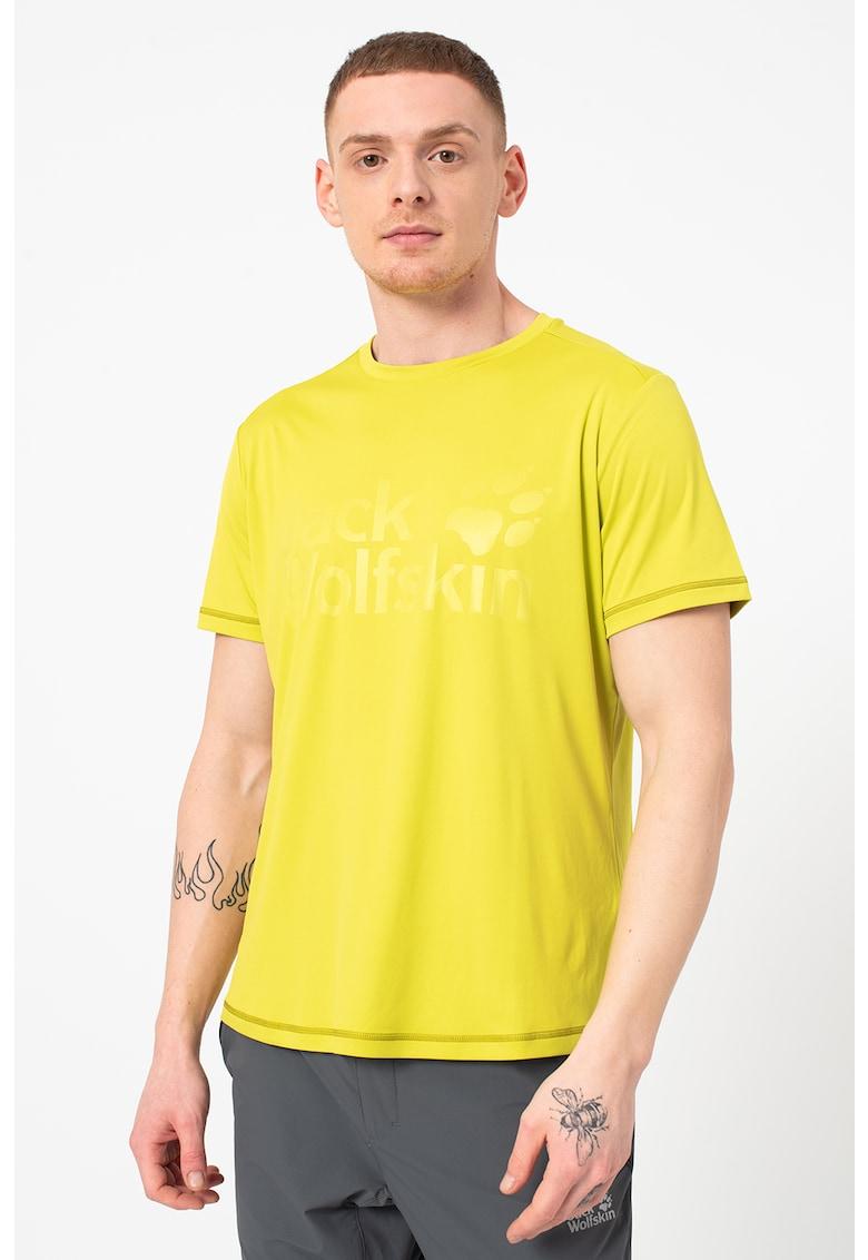 Tricou cu imprimeu logo supradimensionat si cauciucat - pentru fitness Sierra