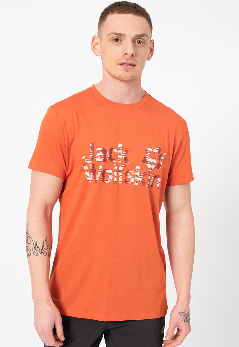 Tricou din amestec de bumbac organic cu logo Ocean