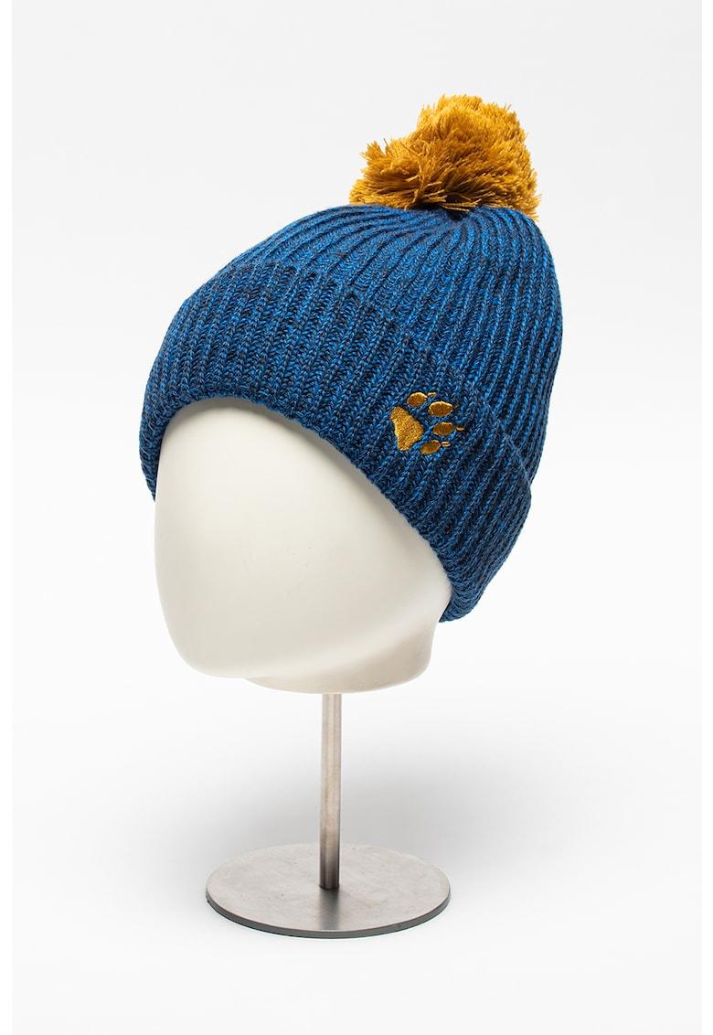 Caciula din amestec de lana cu ciucure Snow Ball imagine fashiondays.ro Jack Wolfskin