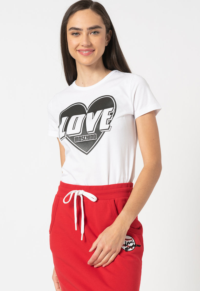Tricou cu imprimeu grafic Love Moschino fashiondays.ro
