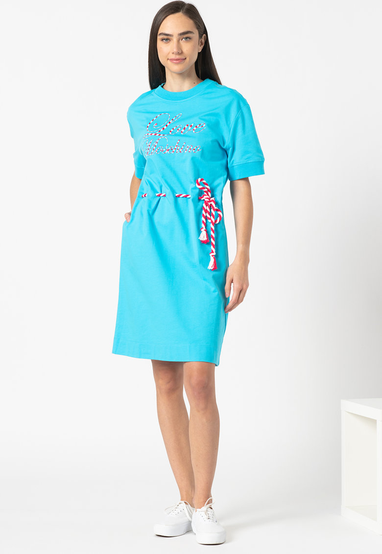 Rochie mini tip tricou cu talie ajustabila Love Moschino fashiondays.ro